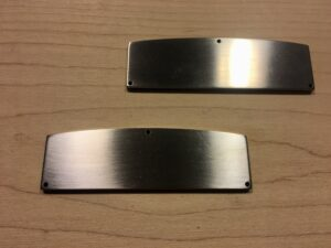 brushed stainless steel blade poles